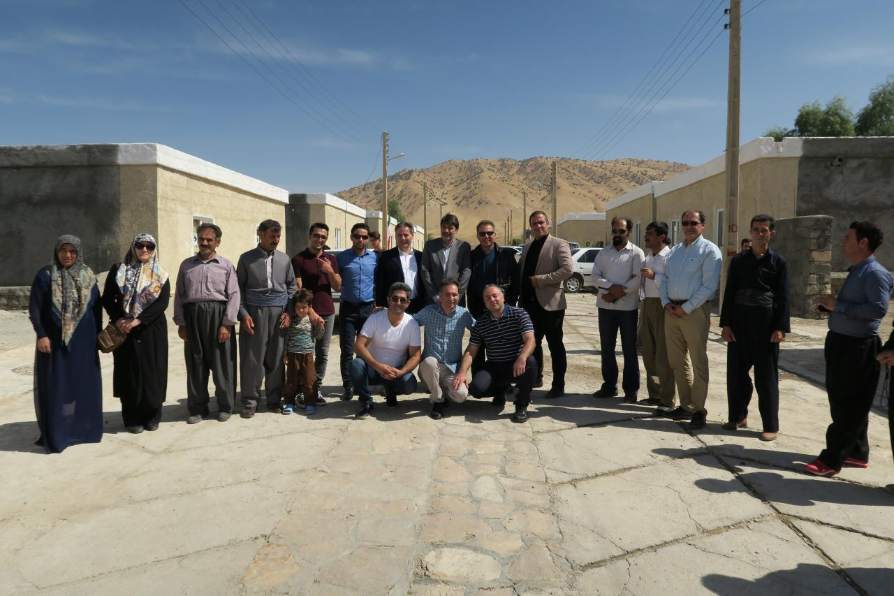 35 houses destructed by earthquake in Kermanshah were rebuilt and opened by  Bam Group and Ilia charity